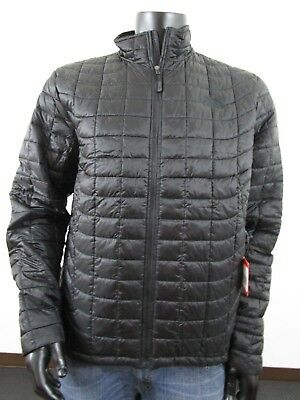 NWT Mens TNF The North Face Thermoball Insulated FZ Puffer Jacket Black / Black