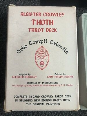 Vintage Aleister Crowley Thoth Tarot Card Deck OTO Cards Belgium Us Games