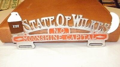 State of Wilkes North Carolina NC Moonshine Capital  License CREST (NEW)