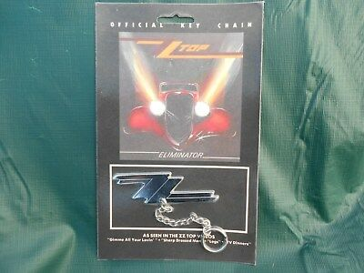 Vintage NOS ZZ TOP Official Key Chain  with band info on the back of card