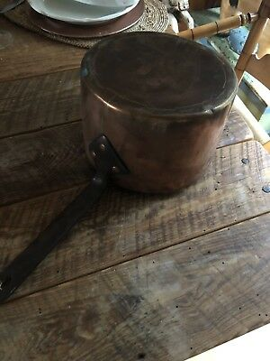 Antique Hand Forged Heavy Copper Pot Large