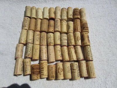 50 Used Wine Bottle Corks Crafts no synthetics all natural fast free mailing 13