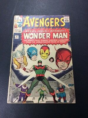 Avengers #9  First App and Death of Wonder-Man  Silver Age Marvel. Decent Grade!