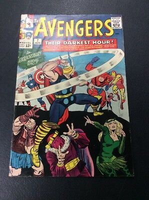 The Avengers #7 (1964, Marvel) Decent Condition!  Classic Lee and Kirby!