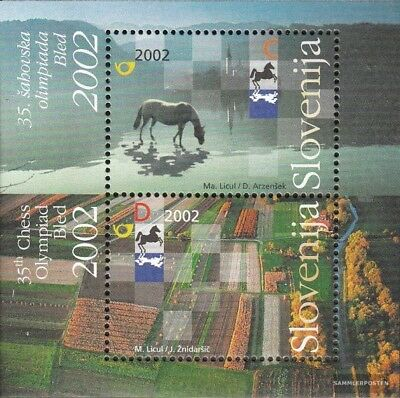slovenia block16 (complete issue) used 2002 chess olympiad
