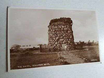Vintage Postcard Unused Real Photo The Cairn Culloden Moor