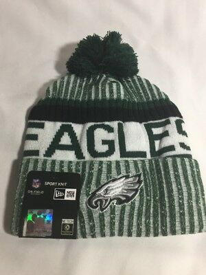 PHILADELPHIA EAGLES BEANIE New Era Knit Cap Winter Hat Sideline ... df740d456