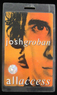 Josh Groban Original 2004 Tour Laminate All Access Backstage Pass Closer Orange