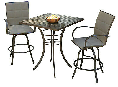 The Outdoor GreatRoom Company Empire 3 Piece Bar Height Dining Set