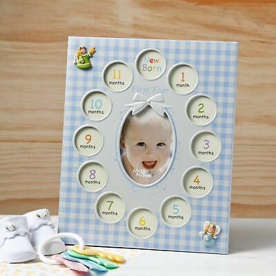 Fashion Craft Baby Boys First Year Collage Picture Frame