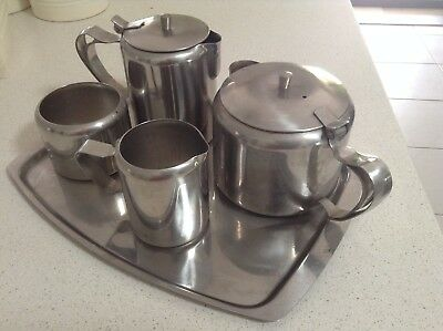 Retro Stainless Steel Tea and Coffee Set - Very good condition
