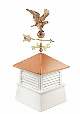 Good Directions Manchester Vinyl Cupola with Eagle Weathervane GDD2008