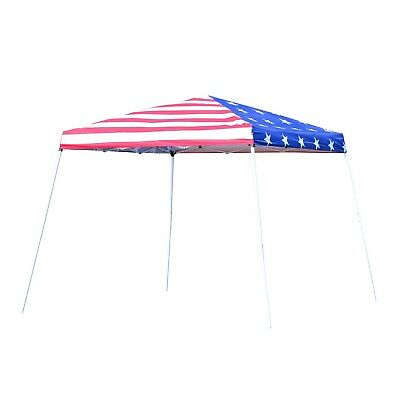 Outsunny Slant Leg 10 Ft. W x 10 Ft. D Steel Pop-Up Canopy