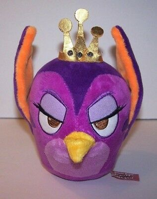 RARE Angry Birds Stella Gale Plush Purple Queen of Pigs Bendable Tail RARE