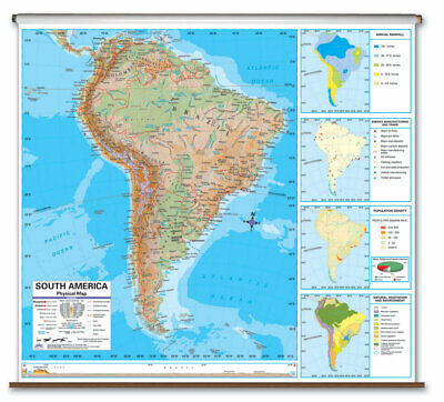 UNIVERSAL MAP ADVANCED Physical Deskpad - South America - $11.99 ...