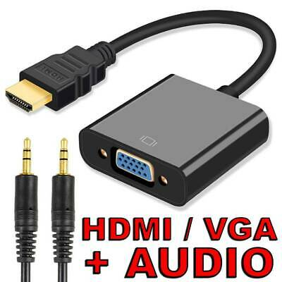 HDMI Male to VGA Female 1080p Adapter Audio Cable Converter Chipset Built-in