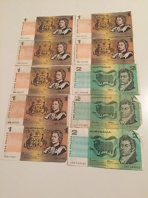 Bulk Hoard of Australian Notes $2 & $1 paper Notes Circulated History