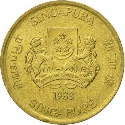 [#545109] Coin, Singapore, 5 Cents, 1988, British Royal Mint, EF(40-45)