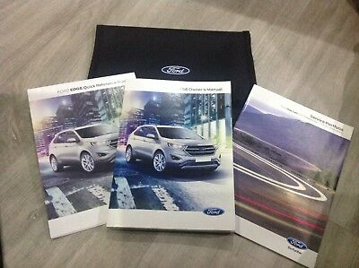 Ford Edge Owners Handbook Manuals Wallet Audio 2016 2018 Service Book W46
