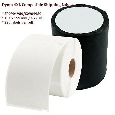 Dymo 4XL Compatible SD0904980 S0904980 Shipping Labels 104x159 mm 4x6 in 220