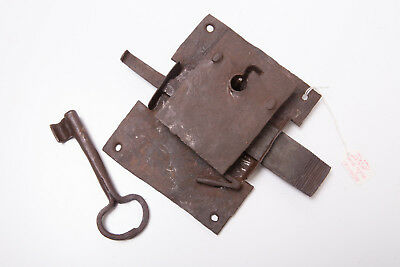 Antique Vintage Extremely Rare Door Mortice Key Lock Gate Collectable Forged