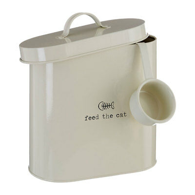 Feed The Cat 2.8 Litre Dry Animal Pet Meal Food Storage Bin Canister Container