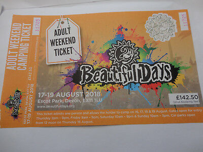 Beautiful Days Adult Weekend Ticket Face value £142.50