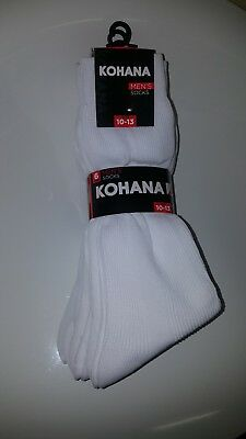 Mens dress socks 10-13, by dozen in white.