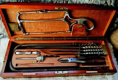 Surgical Amputation Knives Set Down Bros 19th Century Field Campaign Style Case