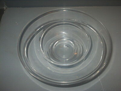 JASPER CONRAN STUART CRYSTAL Clear Glass BOWL AURA Design 19.5cm diam Very Good