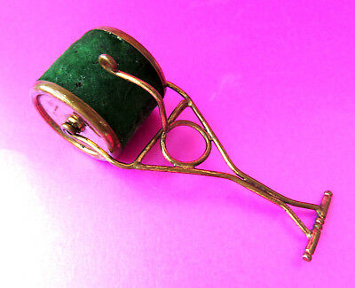 Antique Unusual Sewing Pin Cushion,brass Garden  Roller