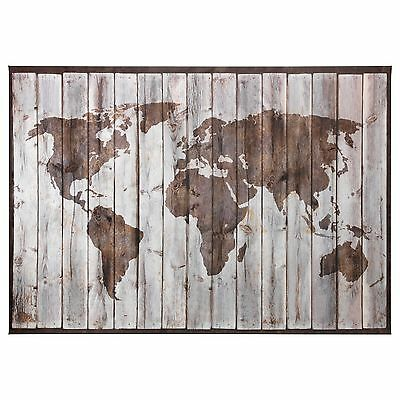 "IKEA PREMIAR DRIFTWOOD World Map. 78 3/4"" X 55"".New. Discontinued ..."