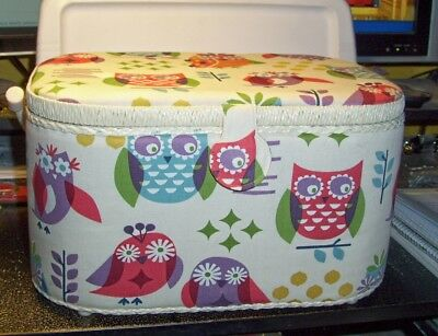 St. Jane Collection Sewing Basket Owl Pattern New
