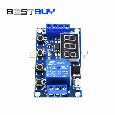 5V Micro USB LED Automation Delay Timer Control Switch Relay Display Module BBC
