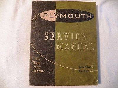 PLYMOUTH. 1955.  Service Manual.