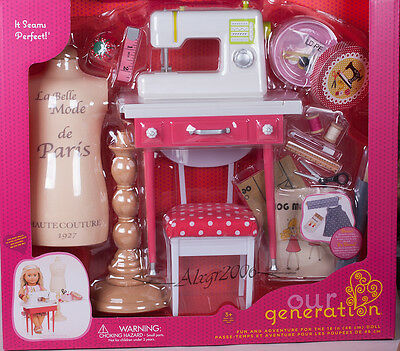 DOLLS SEWING MACHINE Accessories Fits American Girls Doll 40'' Our Beauteous 18 Doll Sewing Machine