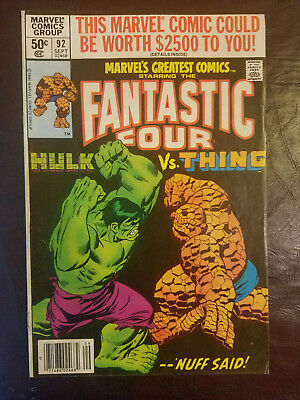 Marvel Fantastic Four Hulk VS Thing #92 Ungraded