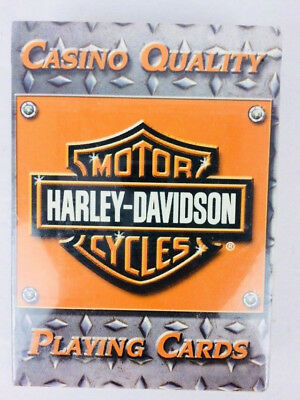 Harley Davidson Casino Quality Playing Cards New Sealed 2004 Harbro Vintage Rare