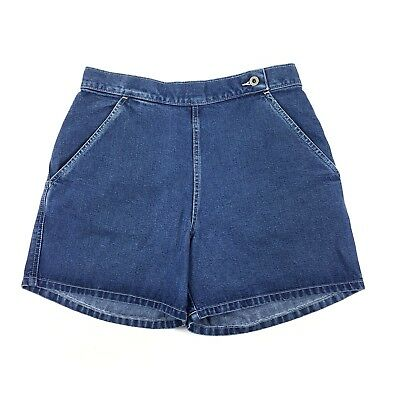 Vtg Levi's Dry Goods Women's High Waist Denim Jean Shorts Grunge Sz 10