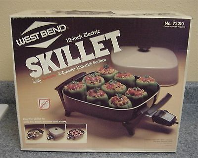 "SEALED NEW in BOX! Vintage WEST BEND 12"" ELECTRIC SKILLET MODEL #72210"