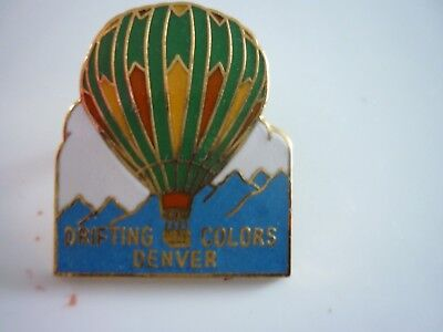 Drifting Colors Denver Co  Balloon  Pin  Very  Colorful !!!