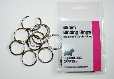 25mm METAL BINDING RINGS 10 PK - Can be used with Tolsby Frames