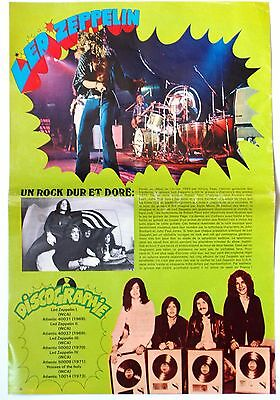 Led Zeppelin  Robert Plant Jimmy Page John Bonam  Poster Clipping Cutting  Mint