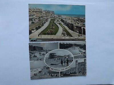TWO 1960's POSTCARDS BEXHILL ON SEA Marine Gardens  Views
