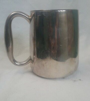 E & Co Silver Plated Tankard.