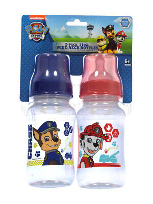 "Paw Patrol ""On the Chase"" 2-Pack Wide-Neck Bottles (11 oz.)"