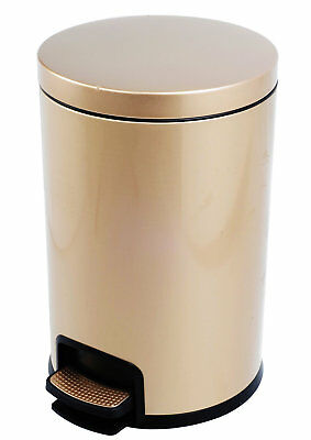 Cosmopolitan Furniture 2-Piece 4.3 Gallon Kitchen Pedal Step On Trash Can Set