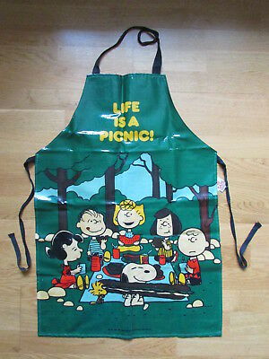 Fab Rare Vintage Adult Size *snoopy* Pvc Apron Kitchen Chef Cookery Cooking