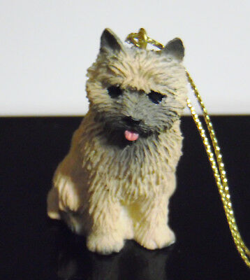 Norwich Cairn Terrier Miniature Dog Figurine Ornament