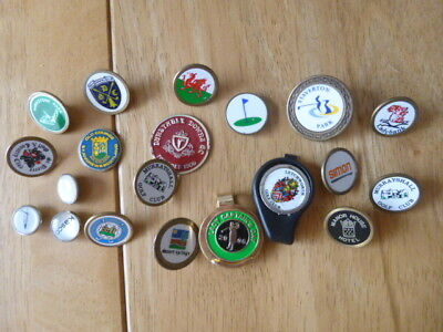 GOLF BALL MARKERS  x 20 VARIOUS